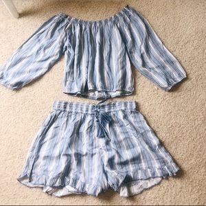 Hollister matching set- shorts and top